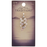 Pink & White Plastic Pearl Cluster Pendant