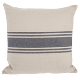 Cream & Gray Striped Pillow