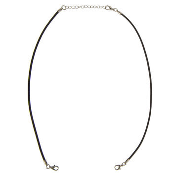 Black Leather Connector Necklaces