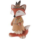 Native American Fox Holding Corn