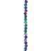 Purple & Green AB Plated Hematite Disc Bead Strand