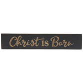 Christ Is Born Wood Wall Decor