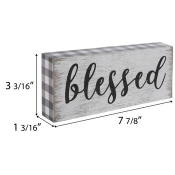Blessed Buffalo Check Wood Wall Decor