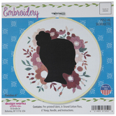 Floral Silhouette Embroidery Kit