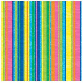 """Summer Striped Scrapbook Paper - 12"""" x 12"""""""