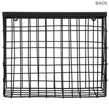 Black Metal Wall Basket