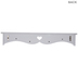 White Heart & Vines Shelf With Knobs