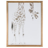 Giraffe Looking Upside Down Wood Wall Decor