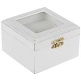 White Wood Ring Box