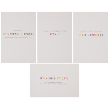 Gold Foil Happy Birthday Cards