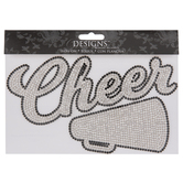 Cheer Horn Rhinestone Iron-On Applique