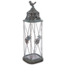 Distressed Blue Bird Metal Lantern
