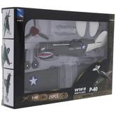 WWII P-40 War Plane Model Kit