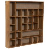 Asymmetric Cubbies Wood Wall Organizer