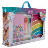 Rainbow Lap Desk & Stationery Set
