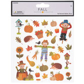 Fall Harvest Glitter Stickers