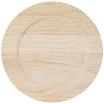 Round Wood Plate