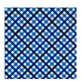 Blue Plaid Gift Wrap