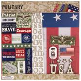 "Military Scrapbook Kit - 12"" x 12"""