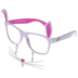 White & Pink Easter Bunny Glasses
