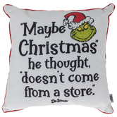Grinch Christmas Pillow