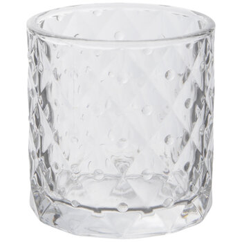 Polka Dot Glass Candle Holder