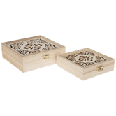 Medallion Wood Box Set
