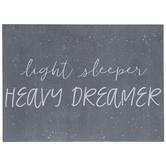 Light Sleeper Heavy Dreamer Wood Decor