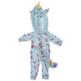 Turquoise Unicorn Doll Creeper