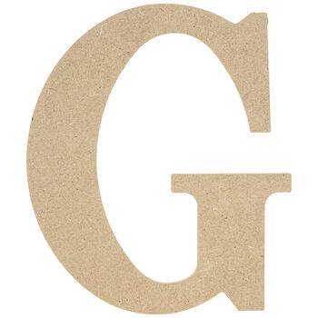 "Wood Letter G - 9 1/2"""