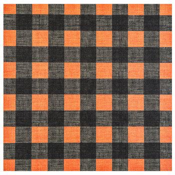 "Orange & Black Buffalo Check Scrapbook Paper - 12"" x 12"""