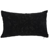 Black Damask Textured Pillow
