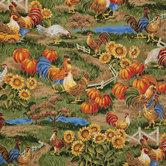 Farm Scenic Cotton Calico Fabric