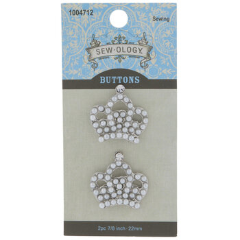 Pearl Crown Shank Buttons - 22mm
