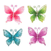 Bright Swallowtail Butterfly Embellishments