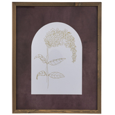 Plum & White Floral Arch Framed Wall Decor