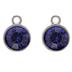 Sapphire Round Rhinestone Charms