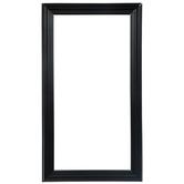 "Matte Black Wood Open Frame - 10"" x 20"""