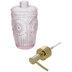 Pink Medallion Glass Soap Dispenser