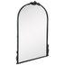 Black Arch & Flourish Wall Mirror