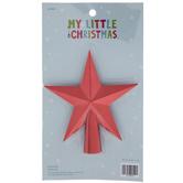 Red Star Mini Tree Topper