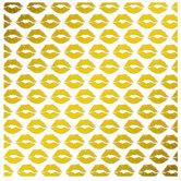 "Gold Foil Lips Scrapbook Paper - 12"" x 12"""