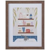 Bathroom Essentials Framed Wall Decor