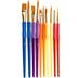 Golden Taklon Paint Brushes - 10 Piece Set