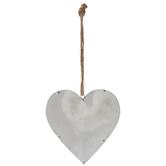 Silver Galvanized Metal Heart Hanger
