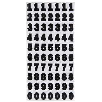 Black Franklin Number Stickers - 3/4""