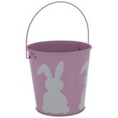 Bunny Metal Bucket Easter Basket