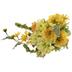 Yellow Zinnia, Geranium, Azalea & Berry Bush