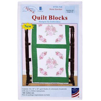 Rose Garden Embroidery Quilt Blocks Kit