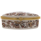 Floral Fan Trinket Box